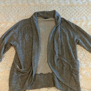 GAP 3/4 Sleeve Terry Cloth Cardigan